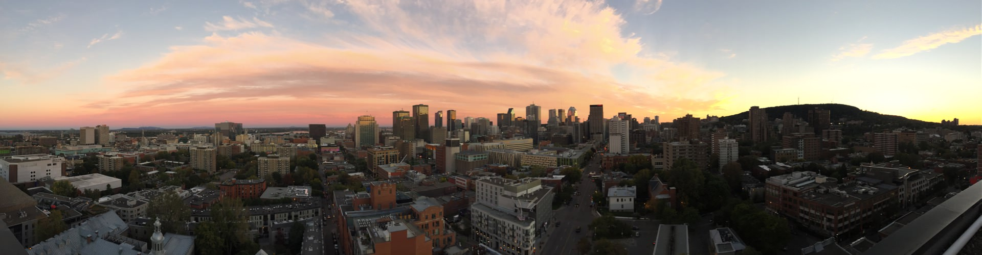 Panoramic view on Montreal
